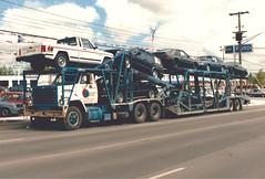 "Chevy Bruin ""Maris Transport"" (PAcarhauler) Tags: carcarrier semi truck trailer tractor gm jeep"