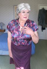 Olgapurplblo (fionaxxcd) Tags: crossdresser cd crossdressing transvestite tranny trannie m2f mtf bust necklace cleavage purplenails boobs lipstick