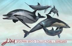 JIAN Dolphin Deco Collection ( FaMESHed August ) ([JIAN]) Tags: secondlife mesh animals dolphin dolphins sea ocean creatures wanderer jian