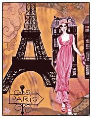 Paris je t'aime (Swissrock-II) Tags: digitalart digitalmania photoshop photoshopart photomanipulation texture brushes png 2018 august paris eiffel deviantart lady