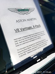 1988 Aston Martin Vantage X-Pack 5.3Litre V8 & 5 Speed manual Gearbox (mangopulp2008) Tags: 1988 aston martin vantage xpack 53litre v8 5 speed manual gearbox isle wight classic car extravaganza 2017