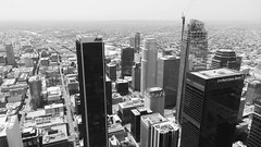 LA from Above (Angelk32) Tags: citsycape panorama sony digitalcamera pointandshoot hx30v skyline losangeles usa california downtown blackandwhite la skyscraper observationdeck oueskyspace aerial
