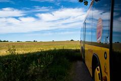 Swedish summer on the island of Ven (Maria Eklind) Tags: view countryside vehicle fordon ö moln kyrkbacken nature himmel island sky outdoor hven buss ven vy skånelän sverige se