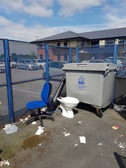 Outside toilet (darrenatherton061) Tags: toilet refuse blue rubbish chair broken