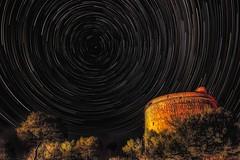 las estrellas... (tiggerpics2010) Tags: startrail watchtower mallorca spain mediterranean night stars nightsky polaris martellotower puerto de soller tramuntana summersky starryskies