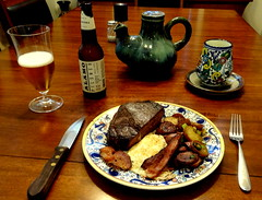 Texas Steak & Eggs (austexican718) Tags: food drink beer egg beef steak potato serrano texas cuisine brew brunch breakfast bacon cosina