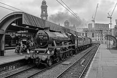 Oxford Road Jubilee (Nigel Valentine) Tags: 45690 leander lms manchester oxford road steam black white noirblanc