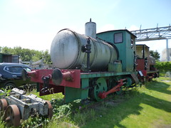 Preserved Bowaters Fireless Locomotive No. 1 03062018a (Rossendalian2013) Tags: sittingbournekemsleylightrailway narrowguage preserved railway train firelesslocomotive 040f kemsleydown station andrewbarclay 1876 bowatersno1