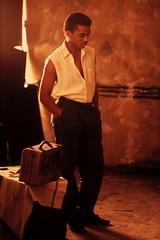 Marlon Jackson 4 (tobysx70) Tags: nikon f2 photomic slr camera kodak ektachrome 35mm 135 color slide film rollfilmweek july 2018 marlon jackson the pacific coast club east ocean blvd boulevard lbc long beach california ca portrait african american man singer don't go music video movie set suitcase toby hancock photography