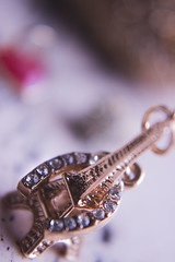 Lovely (Jenny Karakasheva) Tags: eifeltower horseshoe macro closeup tiny bokeh golden macromondays trinkets details shiny gift friendship