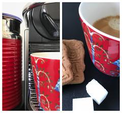 morning coffee (=Mirjam=) Tags: diptych iphone coffee morning voorsuus cup speculaas nespresso iittala juli 2018