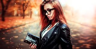 women_redhead_leather_jackets_depth_of_field_women_with_glasses_portrait_fall-1186347