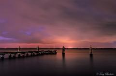 Lake Monroe - Sanford, Fl. (Melindros1152) Tags: sanford fl lake monroe longexposure water pier sunset 1018mm canon sky skies
