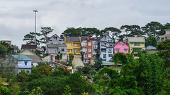 Cityscape of Dalat, Vietnam (phuong.sg@gmail.com) Tags: abstract apartment architecture asia asian background blue building city cityscape classic construction contemporary crowd crowded dalat dense downtown environment estate green hill home house landscape life living lot mountain old orange place poor public real set site structure style summer tight tourism town travel urban vietnam window yellow