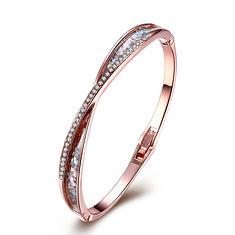 INALIS Platinum Rose Gold Plated Rhinestones Bracelets For Women (1124295) #Banggood (SuperDeals.BG) Tags: superdeals banggood jewelry watch inalis platinum rose gold plated rhinestones bracelets for women 1124295