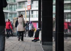 Red Socks (Magic Pea) Tags: photo photography magicpea street urban london eastlondon man houston oldstreet socks redsocks hidden unposed candid streetphotography