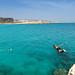 Cliff jumping Nissi beach Cyprus