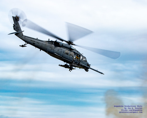 HH-60G Pave Hawk Departing From Hot LZ at Arctic Thunder