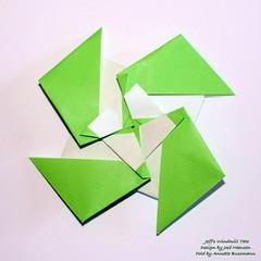 Jeff's Windmill Tato (AnkaAlex) Tags: origami origamistar origamitato origamidesign origamiart paperfolding papercraft paperfoldingart papel purple paper josémeeusen square squarepaper