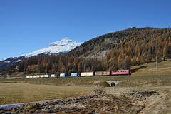 Bever (Paolo Brocchetti) Tags: paolobrocchetti bever samedan engandina rhb nikon d800 24120 bahn rail treno locomotiva merci ferrovia