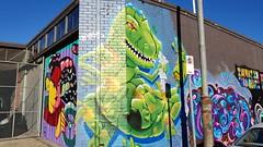 Frosk... (colourourcity) Tags: melbourne burncity colourourcity nofilters awesome streetart streetartaustralia streetartnow graffitimelbourne graffiti frosk phrosk tog tne rod dinosaur vsgm vsgallery vsgallerymelbourne