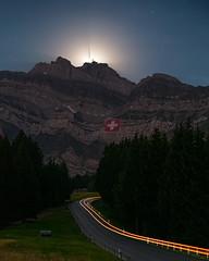 Swiss National Day (lukas schlagenhauf) Tags: schwägalp säntis alpstein appenzell road switzerland swiss suisse schweiz stgallen creativcommons nature lukasschlagenhauf night nightscape europe canoneos6d canon moon moonrise myswitzerland