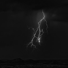 Disconnection (agavephoto) Tags: lightning storm dark disconnect bolt electricity square bw weather monsoon blackandwhite fineart idisconnectfromyou