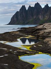 Tungeneset (Asbjørn Anders1) Tags: senja tungeneset okshornan sea seascape seaside ocean mountain reflections landscape norway rock water sky bay