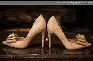 Sparkly Gold Shoes