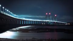 Prince of Wales Bridge, Gloucestershire, UK (KSAG Photography) Tags: bridge river night nightphotography england wales uk unitedkingdom britain europe nikon november 2017 winter urban engineering architecture wideangle longexposure