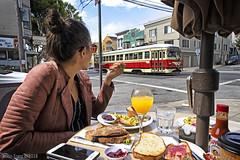 Memosas and Streetcars (Justin Franz) Tags: 2020msrcalendar streetcar sanfrancisco