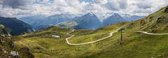 View from the top of the Königsleiten Chair Lift (Craig Hannah) Tags: königsleitenchairlift zillertalvalley austria alps mountain landscape panorama path road clouds sky craighannah july 2018 photography photos canon