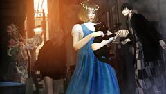 914 (Tomomi alpaca Homewood) Tags: tram jian mikunch zenith crown cat kimono tomoto mopirecity alley backstreet japan