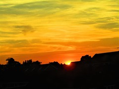 Sunset & Silhouettes (Gary Chatterton 4 million Views) Tags: sunset silhouettes houses trees natural nature sun sky clouds urban evening sunshine flickr explore canonpowershot photography