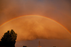 Sunset Clouds Rainbow (Enigma 80) Tags: cloud clouds rainbow colour yellow orange low cumulus