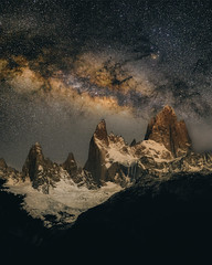 It will always be fiction. (Valter Patrial) Tags: montefitzroy fitz roy patagonia ar argentina night nightscape nightscapes nightphotography light