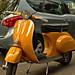 Yellow Orange Vespa