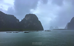 A rainy afternoon at Phang Nga bay, Thailand (hazarika) Tags: phangngabay phuket thailand asia mausamhazarikaphotography rain rainyseason
