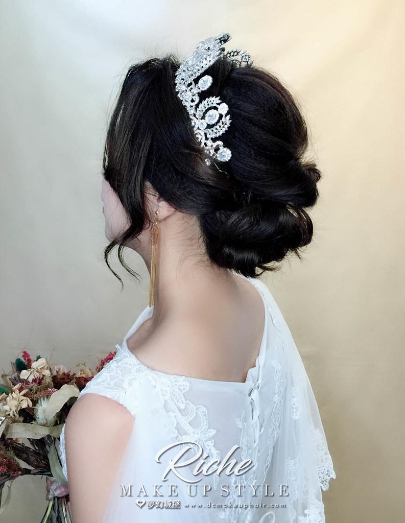 【新秘RICHE】新娘造型創作 / 白紗宮廷造型