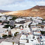 Aerial photo of Spanish town of Teguise on the Canary Islands thumbnail
