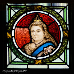 Queen Victoria (Holfo) Tags: bridgnorth kings queens stainedglass victoria victorian nikon glass colour leaded lead beautiful super superb commemorating commemorative d5300
