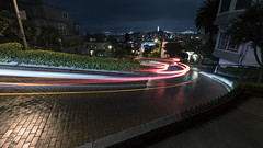 Lombard Street (andre adams) Tags: cinematic lombardstreet sanfrancisco usa lighttrails traffic urban nightscape night nightshot nightphotography nightscene longexposure travel cars