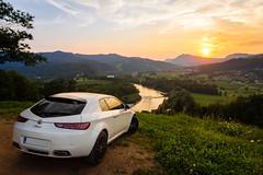 Watching Sunset (novak.mato91) Tags: sunset landscape nikon nikond7200 d7200 slovenia slovenija goldenhour summer sigma alfaromeo alfa romeo brera cars italiancars