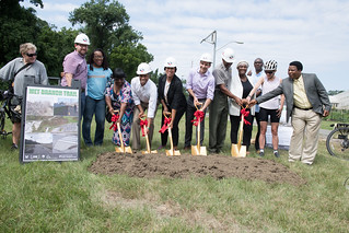 July 28, 2018 MMB  Breaks Ground on Fort Totten Extension of Met Branch Trail