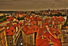 Prague View (Billy McDonald) Tags: hdr prague view homes rooftops clouds