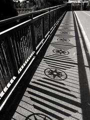 Shadow play (scarbrog) Tags: shadow blackandwhite bridge star sidelit