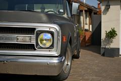 C 10 Stepside (heresthething...) Tags: chevy chevrolet c10 pickup stepside truck auto car 70s rat rod grill chrome v8 virginia hotrod shop speed spokes 8