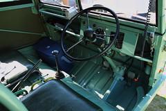 Puch Haflinger (JoRoSm) Tags: hebden bridge classic vintage car show 2018 cars autos canon eos 500d tamron 1750 f28 puch haflinger cockpit steering wheel dash green military