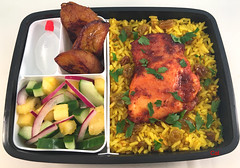 Chicken and Rice Bento (Cathryn3) Tags: bento lunch chicken trinidadian rice plantains cucumber pineapple redonion