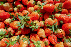 Background from fresh strawberries (phuong.sg@gmail.com) Tags: agriculture background beautiful berry close closeup color colorful cut delicious dessert diet eat edible food fresh freshness fruit fruitage fruity garden green health healthy horizontal juicy leaf macro market natural nature nutrient nutrition organic red refreshment ripe season seeds snack strawberry summer sweet tasty vegetarian vibrant vitamin